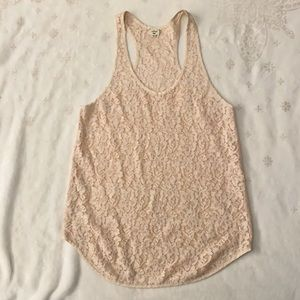 Wilfred, Cream Lace Racerback Tank top, Size XS